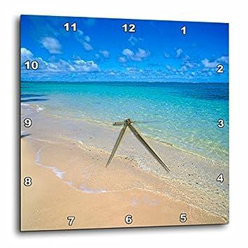 3dRose DPP_89643_3 Lanikai Beach, Oahu, Hawaii – US12 DPB0783 – Douglas Peebles – Wall Clock, 15 by 15-Inch