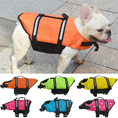 Flyingpets Life Jackets for Dogs - Dog Life Jacket - Dogs Life Jacket - Summer Dog Life Vest Reflective Safety Dog Clothes Life Jacket Pet Swimming Clothing for Dogs, Sport, Waterproof. by Flyingpets