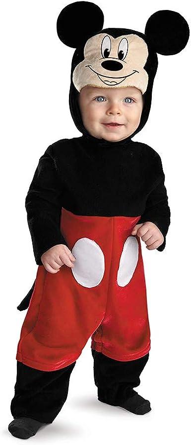 Disfraz Disney Mickey Mouse traje infantil 6 - 12 Meses: Amazon.es ...