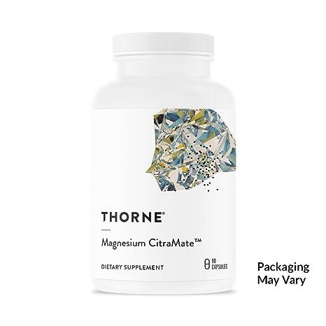 Suplemento de magnesio con citrato-malate de Thorne Research;90cá