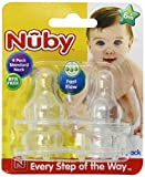 Baby : Nuby 4-Pack Standard Neck Fast Flow Nipples