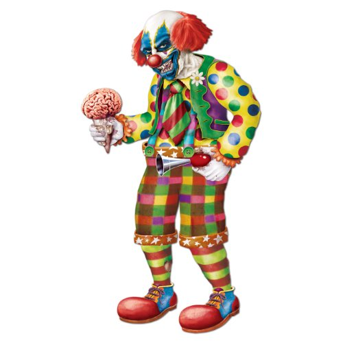 [Beistle Jointed Zombie Clown, 5-Feet 6-Inch] (Halloween Animatronics)