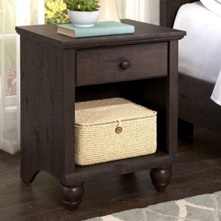 Traditional Walnut End Table - 1