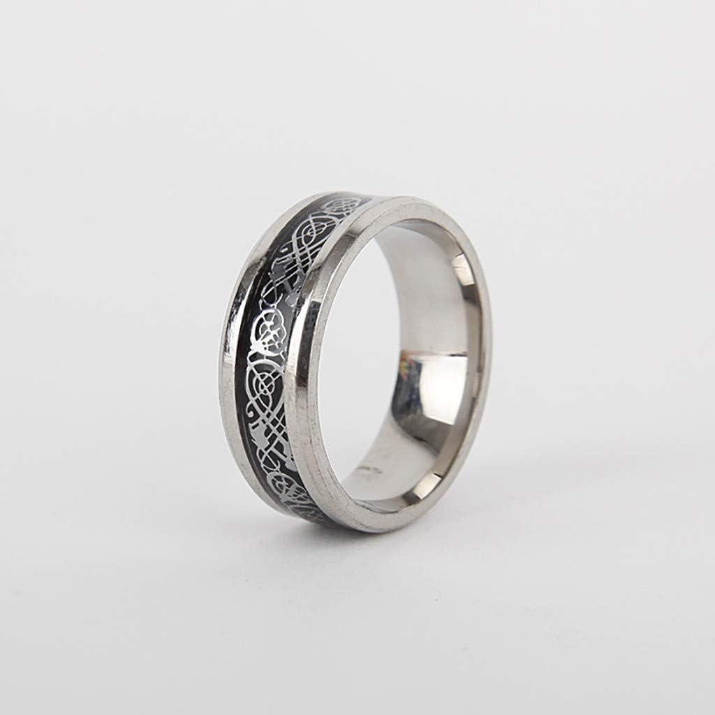 bijoux bague homme femme mixte dragon or fian/çailles mariage acier tungst/ène anneaux fantaisie largeur pattern en et argent de style europ/éen am/éricain
