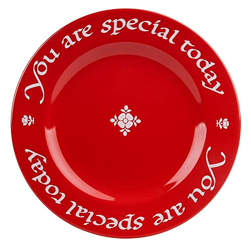 Waechtersbach 4251271903 You Are Special Today Plates, Giftboxed, Set of 3, Red...