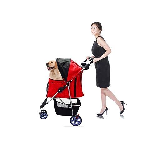 Trolley plegable para mascotas de tres ruedas Carrito para ...