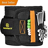 Swimmaxt Magnetic Wristband with Strong Magnets for Holding Screws, Nails, Drill Bits (Pro-black) (new)