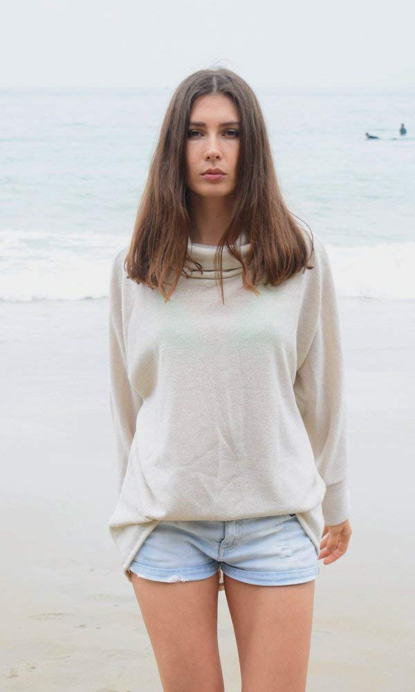 Off White Gold Thread Kimono Sweater Top, Beach Sweater, Cozy Travel Sweater, Cool Night Summer Sweater. Size M-XL