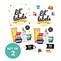 Lil Labels Bottle Labels, Waterproof Baby Bottle Label for Daycare (Variety P...