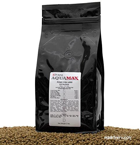 - 2 lbs. Aquamax Pond Fish 4000, A 36% Protein, 3/16
