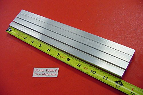 4 Pieces 1/2'' X 1/2'' ALUMINUM SQUARE FLAT BAR 12'' long 6061 T6511 New Mill Stock by Stoner Metals