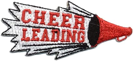 Cheerleading Embroidered In Black Iron On Applique Patch Cheerleader