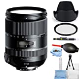 amron 28-300mm f/3.5-6.3 Di VC PZD Lens for Canon Starter Bundle with Tulip Hood Lens, UV Filter, Cleaning Pen, Blower, Microfiber Cloth and Cleaning Kit