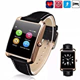 Smart Watch,ELEGIANT MiniWear Waterproof Smart Watch Bluetooth Smart Phone Watch with Heart Rate Monitor,Touch Screen and Fitness Tracker for iPhone and Android Smartphones