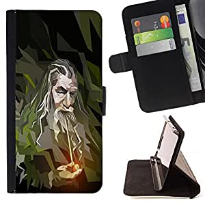 BullDog Case - FOR/Samsung Galaxy Note 3 III / - / cool tumble pipe art harry man beard /- Monedero de cuero de la PU Llevar cubierta de la caja con el ID Credit Card Slots Flip funda de cuer