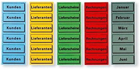 ELBA 100420965 Inhaltsschild Januar Dezember aus selbstklebendem Papier 57 x 25 mm Beutel mit 120 Schildern in grau Monate