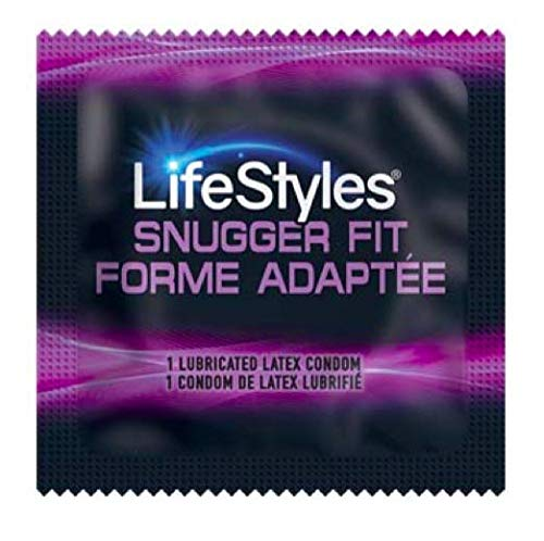 100 Lifestyles Snugger Fit Condoms; Tighter Shape for Maximum Sensitivity by CondomMan