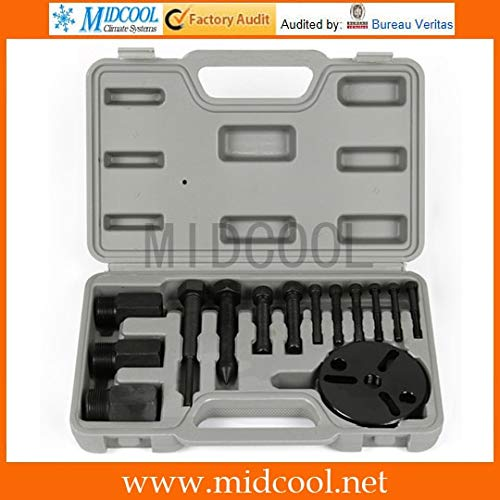 Pumps Auto A/C Air Conditioning Compressor Clutch Armature Plate Puller Remover Set Repair Tool Kits