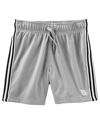 Osh Kosh Boys' Kids Mesh Shorts, Grey/Black 8 - Oshkosh Boys Shorts