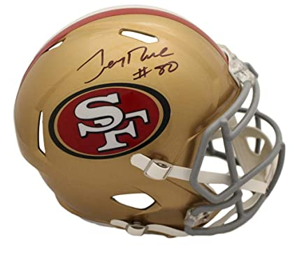 075b1e33c Image Unavailable. Image not available for. Color  Jerry Rice Signed Helmet  - Speed Replica BAS 22820 - Beckett Authentication - Autographed NFL Helmets