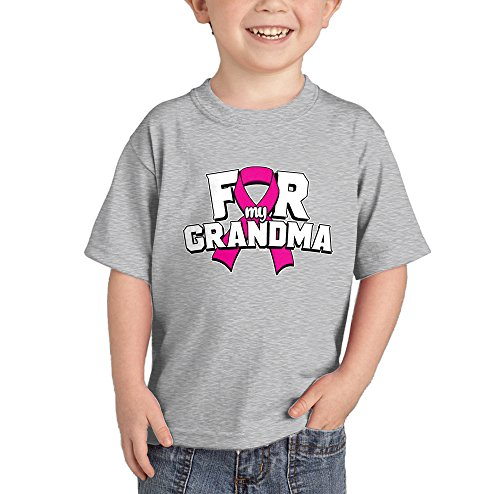 HAASE UNLIMITED Pink Ribbon for My Grandma - Breast Cancer T-Shirt (Light Gray, ()