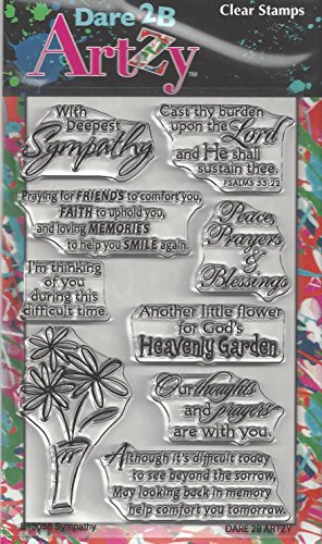 - Dare 2B Artzy Sympathy Clear Cling Rubber Stamps