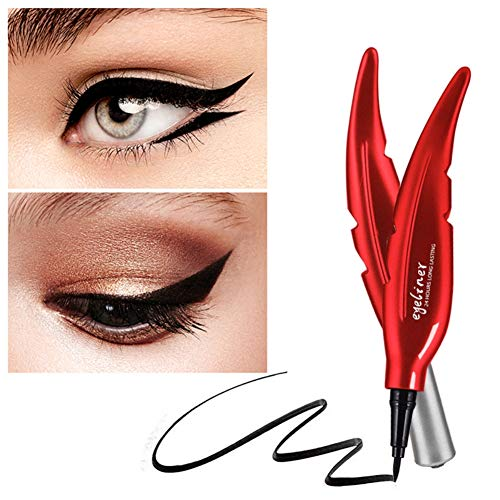 Angel Wing Eyeliner (Wishwin Cosmetics Liquid Eyeliner Pen Feather Angel Wing Shaped Waterproof Smudge-Proof Easy To Color Liquid Eyeliner Pencil Vamp)