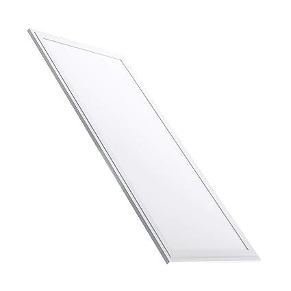 LEDKIA LED-Paneel Slim, 120 x 60 cm, 72 W, weißer Rahmen Warmweiß