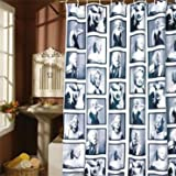 Soft Touch Marilyn Monroe Shower Curtain with 12 Hooks