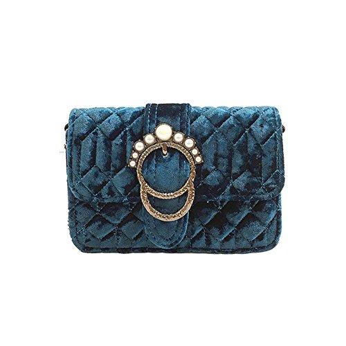 Messenger Purse Blue Handbag Domybest Bag Women Mini Crossbody Pleuche Clutch Small Bags qwwRgAT