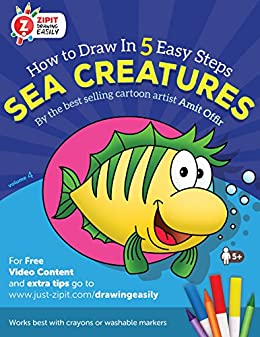 sea creatures how to draw sea creatures drawing book for children and adults - Drawing Books For Children