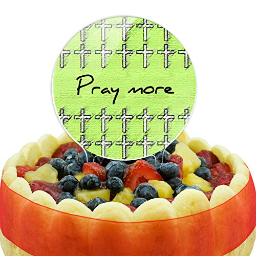 Pray More Giving Thanks First Cake Top Topper