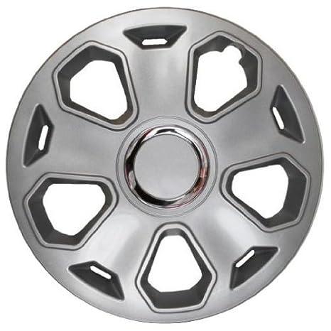 4 Tapacubos Tapacubos tipo Opal Lux Plata con anillo cromado, apta para Land Rover 13 pulgadas Llantas de Acero: Amazon.es: Coche y moto