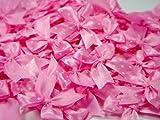 Polka Dot Satin Ribbon Pink Bows for Perfect Diy- Applique, Scrapbook, Card Trims Craft- 7 Mm. 40 Pcs.