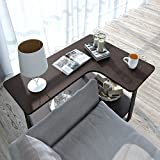 nesting espresso cups - Lifewit 2-tier Couch Side End Table, L-shape Huge Capacity Sofa Table Desk, Espresso