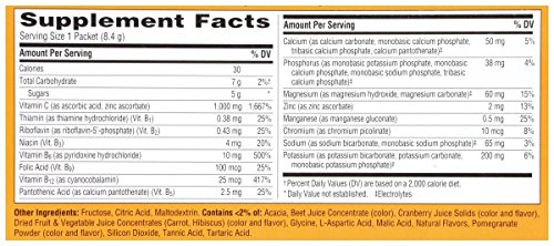 076314301935 - Emergen-C Dietary Supplement Drink Mix with 1000 mg Vitamin C, 0.30 Ounce Packets, Caffeine Free (Cranberry-Pomegranate Flavor, 30 Count) carousel main 5