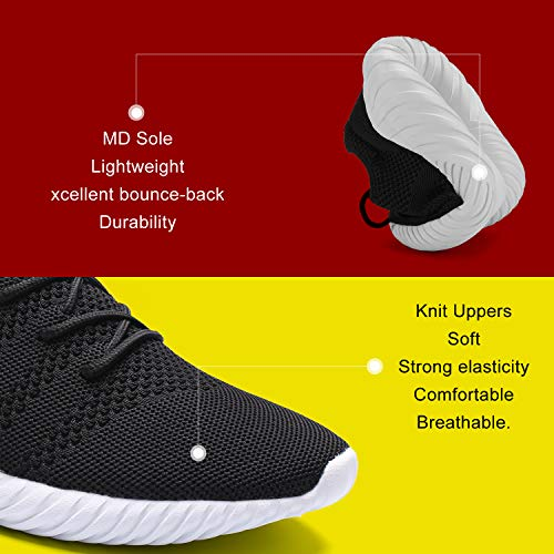 1799black Outdoor Lightweight Men Athletic Hetohec White Gym Shoe Sneakers Workout for Knitted Shoes Baseball Sport Trail Fashion cW0Rw0qXZH