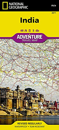 India (National Geographic Adventure Map) (South India Map)