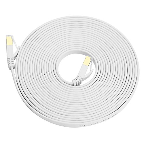 Amazon Com Cat 7 Ethernet Cable 6 Ft White Snanshi Cat 7 Lan