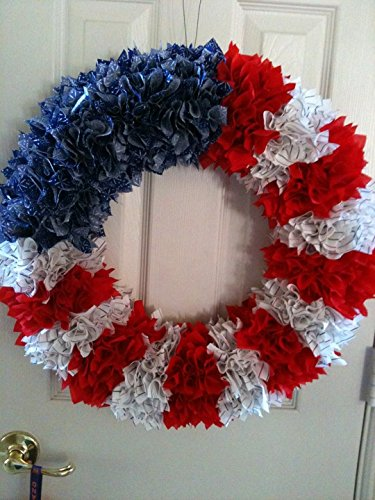 Americana Wreath Party Decorations Wall
