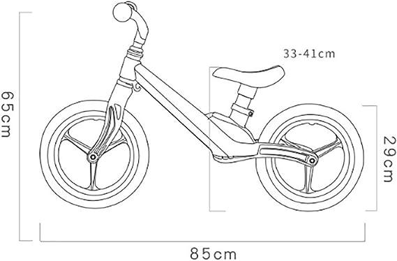 HKIASQ Bicicleta de Equilibrio (para niños) de 1-3-6 años de Edad ...