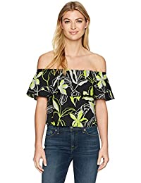 Women's Tropical Floral Off The Shoulder Top