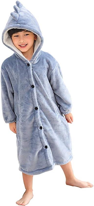 Unisex Luxury Bath Robe Dressing Gown Hooded Thick Warmer Winter Fleece Tops UK