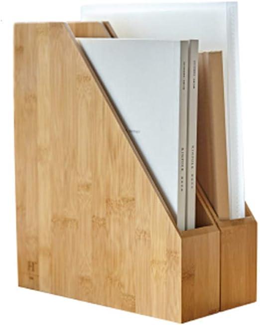 Cesta organizadora archivos escritorio madera,organizador vertical carpetas, organizador productos oficina,suministros para el hogar la oficina,contenedores almacenamiento verticales portátiles,caja: Amazon.es: Hogar