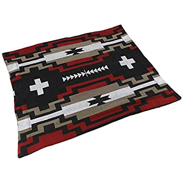 Splendid Exchange Southwestern Bedding Diamond Star Collection, Mix and Match, Reversible Pillow Sham, Red and Black