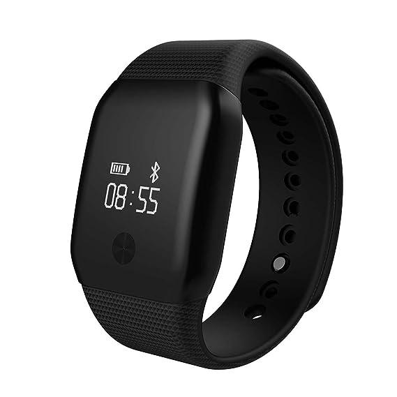 Pulsera Actividad Demiawaking Reloj Inteligente Pulsera Bluetooth 4.0 A88+ Impermeable de IP65 con Pulsómetro Podómetro OLED Pantalla Alertas de ...