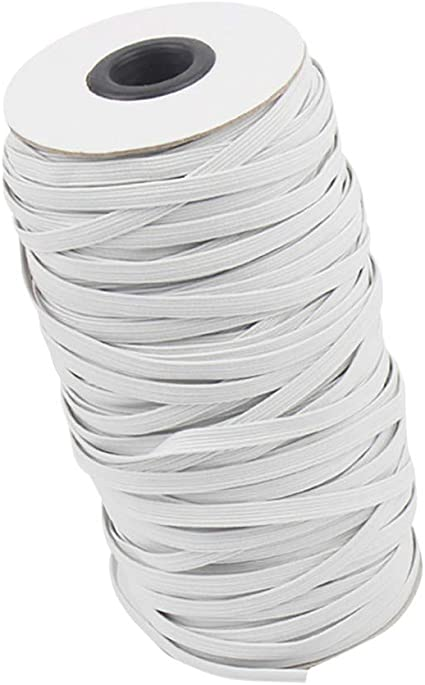 1//6 inch//4.5mm Black, 10 Yards Arts and Crafts Kokits Braided Elastic Band//Elastic Rope White//Black Heavy Stretch for Sewing Mask DIY