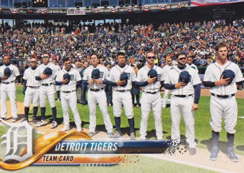 Detroit Tigers 2018 Topps Complete Mint Hand Collated 15 Card Team Set with Miguel Cabrera and Victor Martinez - Team Tigers Detroit