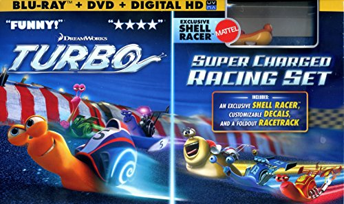 (Dreamworks Turbo Exclusive Shell Racer, Decals, Foldout Racetrack (Blu-ray+DVD+Digital Copy+Racing Set) (Widescreen))