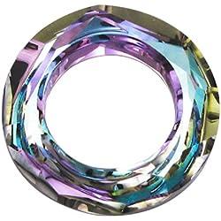1 pc Swarovski Crystal 4139 Round Cosmic Ring Frame Charm Pendant Vitrail Light 14mm / Findings / Crystallized Element